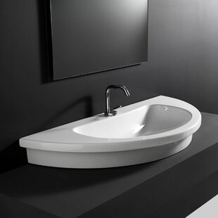 Find a Kart Ceramic U-Shaped Vessel Bathroom Sink By WS Bath Collections