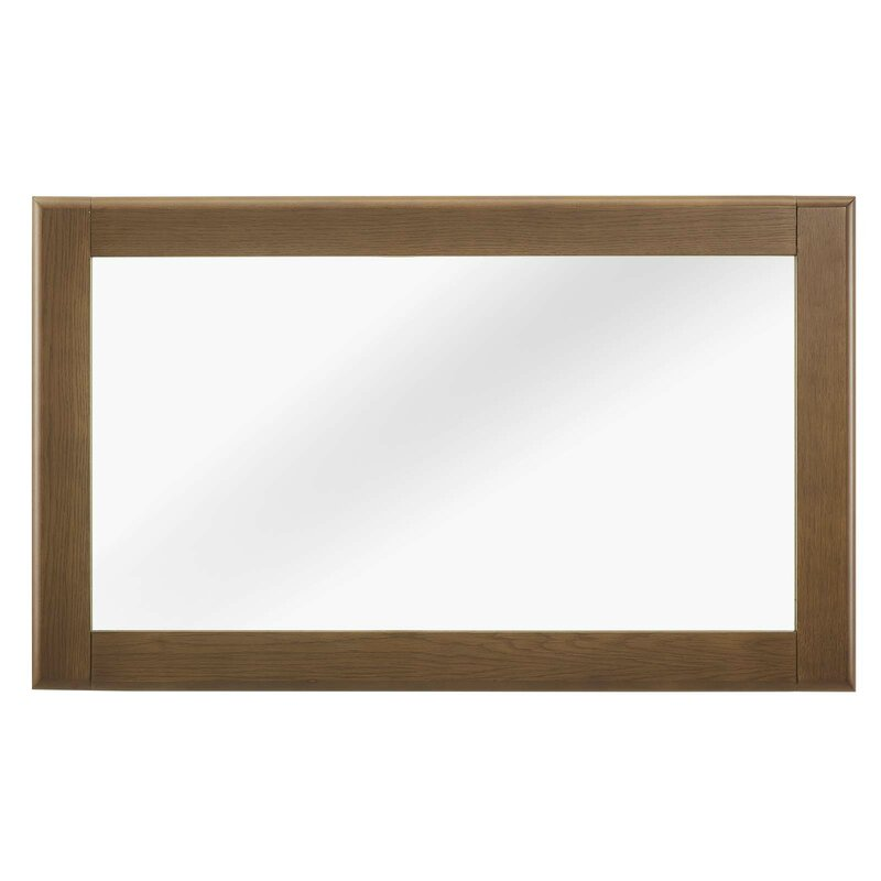 George Oliver Burruss Wood Frame Accent Mirror Wayfair