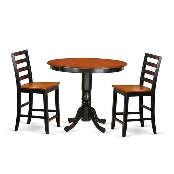 Olyphant 3 Piece Counter Height Pub Table Set By Winston Porter