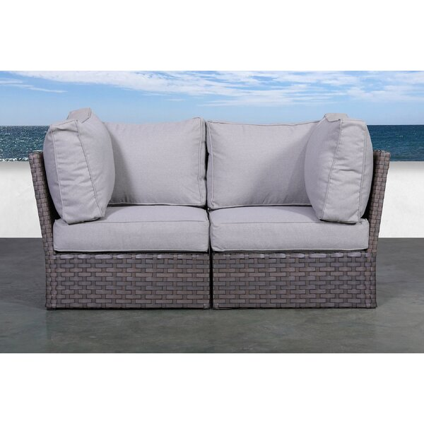 Lonan Loveseat with Cushions by Highland Dunes Highland Dunes