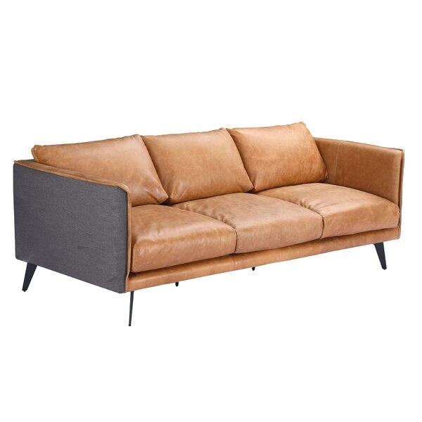 Kelsie Genuine Leather Sofa By 17 Stories