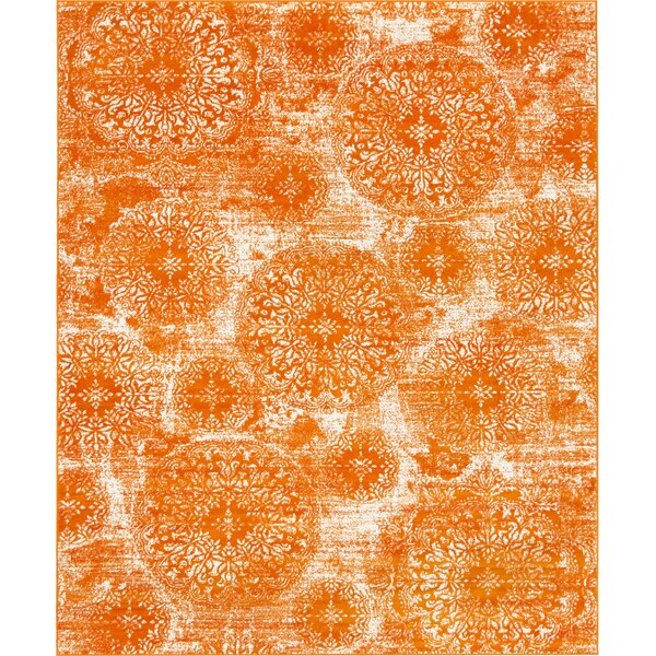 Brandt Orange Area Rug by Mistana