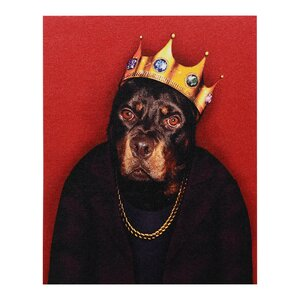 Pets Rock™ Big Doggie Graphic Art on Wrapped Canvas by Empire Art Direct