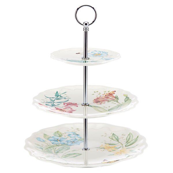 Butterfly Meadow Melamine 3 Tiered Tray by Lenox