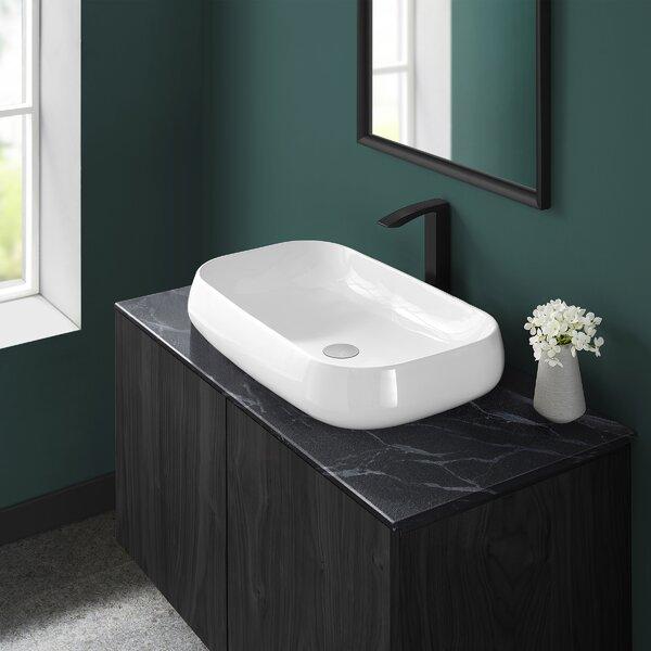 Chateau Ceramic Rectangular Vessel Bathroom Sink