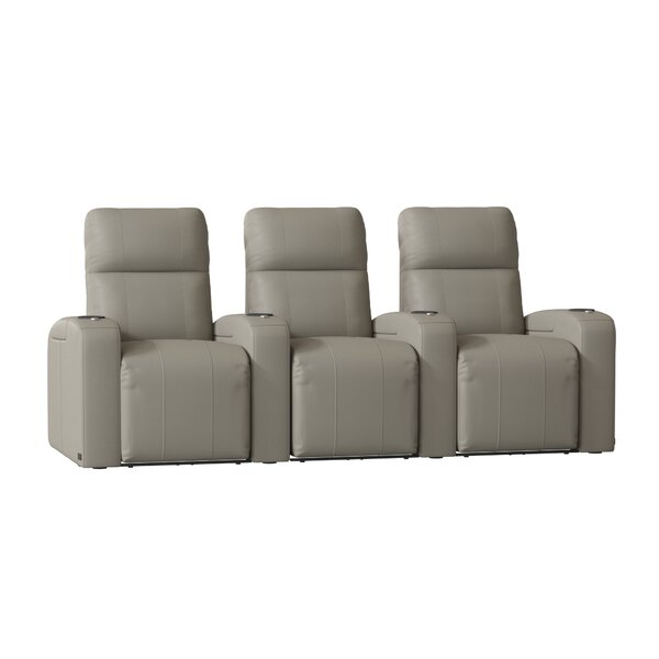 Home Theater Row Seating With Chaise Footrest (Row Of 3) By Latitude Run