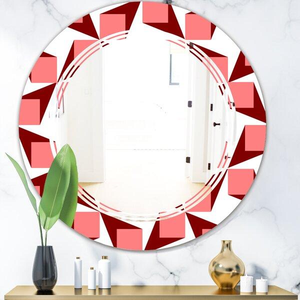 Geometrical Abstract Minimal Pattern XIII Triple C Modern & Contemporary Frameless Wall Mirror