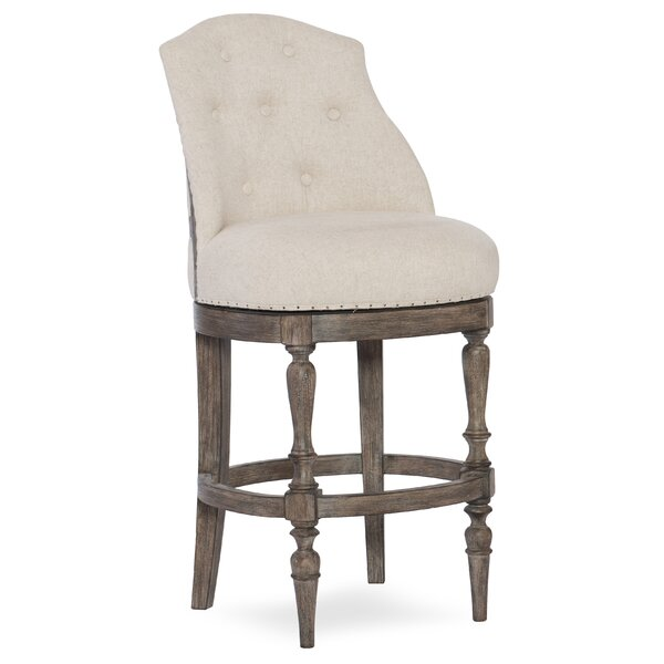 Kacey Deconstructed Counter Swivel Bar Stool by Hooker Furniture
