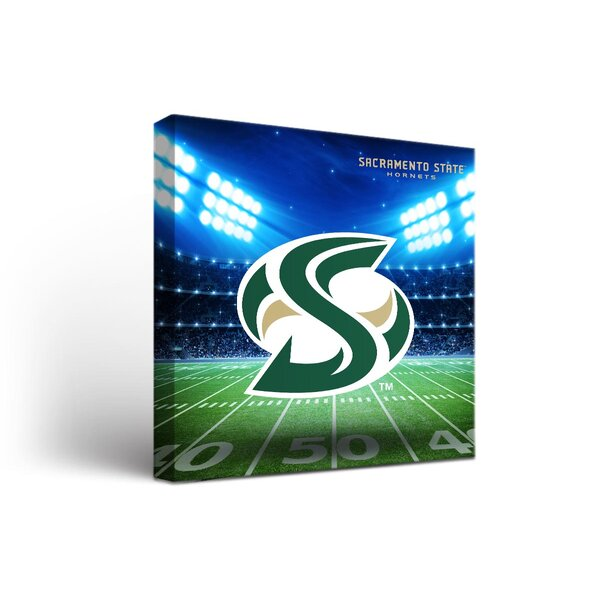 NCAA CSU Sacramento State Hornets Stadium Framed Graphic Art on Wrapped Canvas by Victory Tailgate