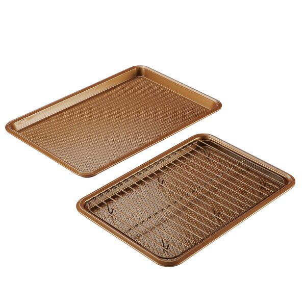 Non-Stick Bakeware Cookie Baking Sheet Set by Ayesha Curry