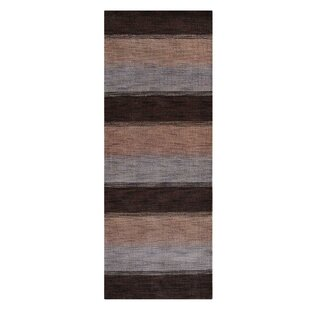 Great Price Kevin Loom Hand-Knotted Wool Dark Brown/Gray/Cream Area Rug By World Menagerie