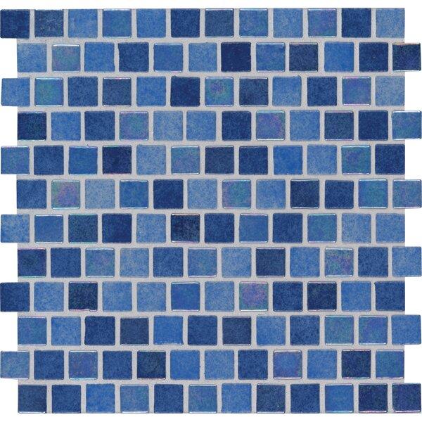 Hawaiian Sky 1 x 1 Glass Mosaic Tile in Blue by MSI