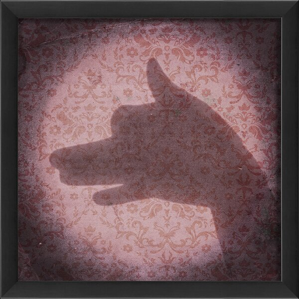 Shadow Puppet Dog Framed Photographic Print by The Artwork Factory