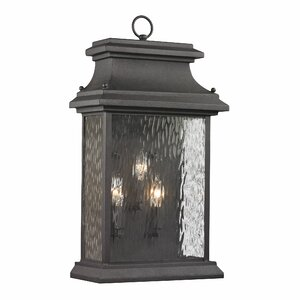 Forged Provincial 3-Light Outdoor Wall Lantern