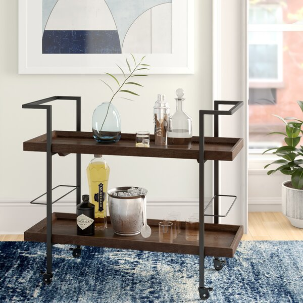 Calvin Wooden Bar Cart By Foundstone