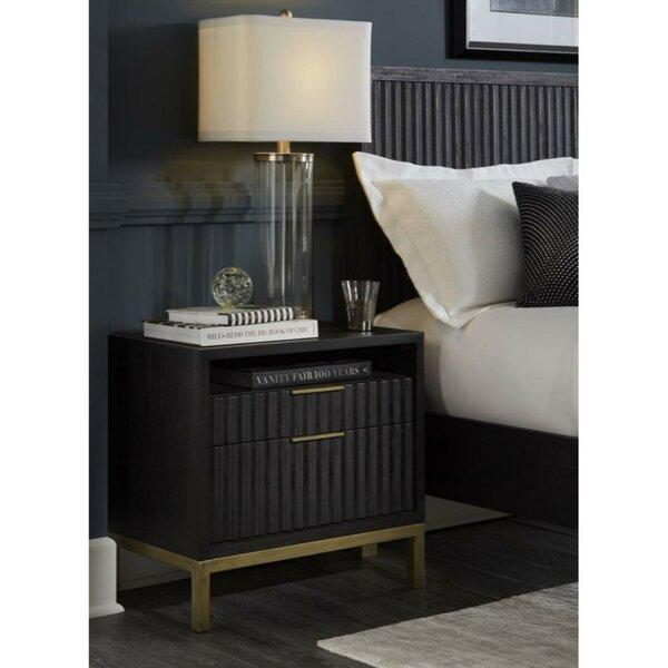 Sloane Wood And Metal 1 Drawer Nightstand By Mercer41 by Mercer41 Spacial Price