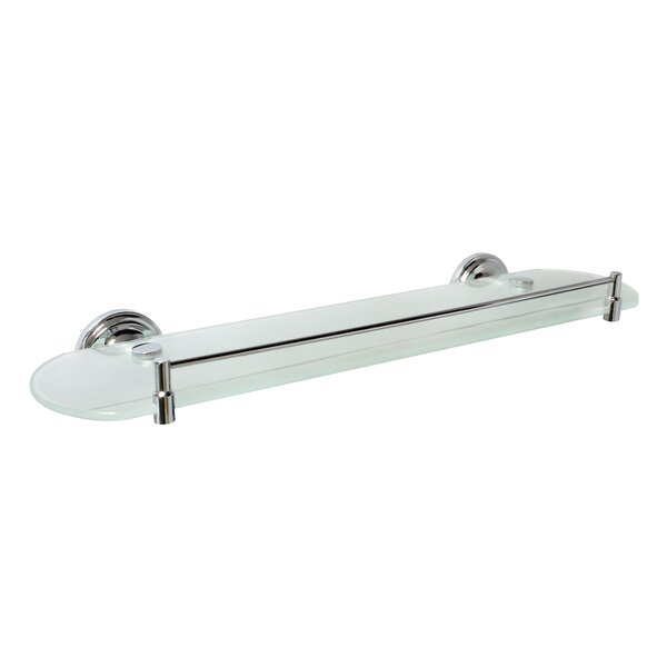 Viola 20 Frosted Glass Shelf with Rail by Modona