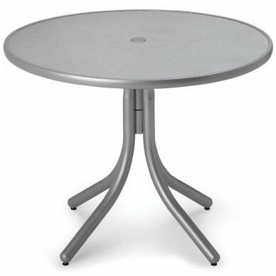 Embossed Aluminum 36 Round Table by Telescope Casual