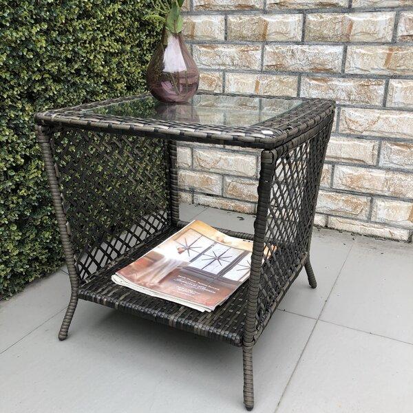 Richert Wicker/Rattan Side Table by Breakwater Bay