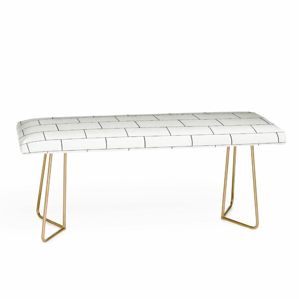 Brick Imperfection Upholstered Bench by East Urban Home