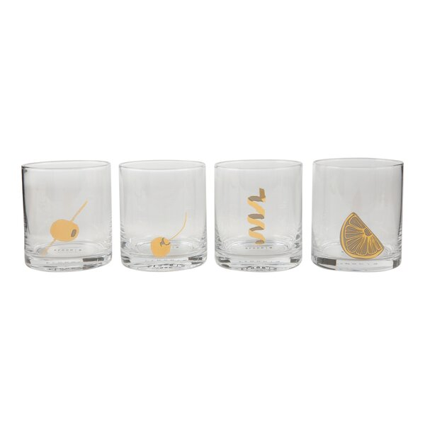 Garnish 10 Oz. Glass Cocktail Glasses (Set of 4) by Floor 9