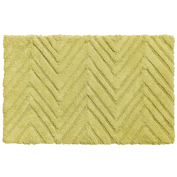 Chevron Cotton Bath Rug by Sweet Home Collection