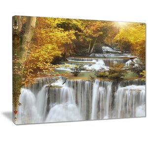 'Autumn Huai Mae Kamin Waterfall' Graphic Art Print on Canvas by East Urban Home