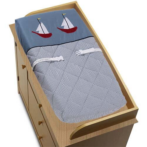 Come Sail Away Changing Pad Cover by Sweet Jojo Designs