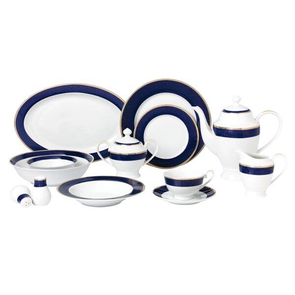 La Luna Bone China 57 Piece Dinnerware Set, Service for 8 by Lorren Home Trends