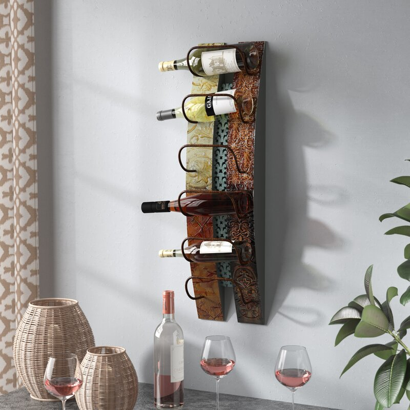 Fleur De Lis Living Zendaya 6 Bottle Wall Mounted Wine Rack