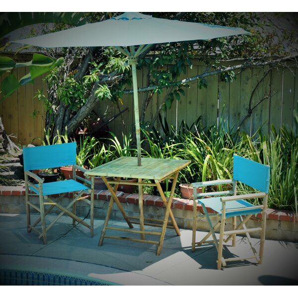 4 Piece Dining Set with Umbrella by Breakwater Bay