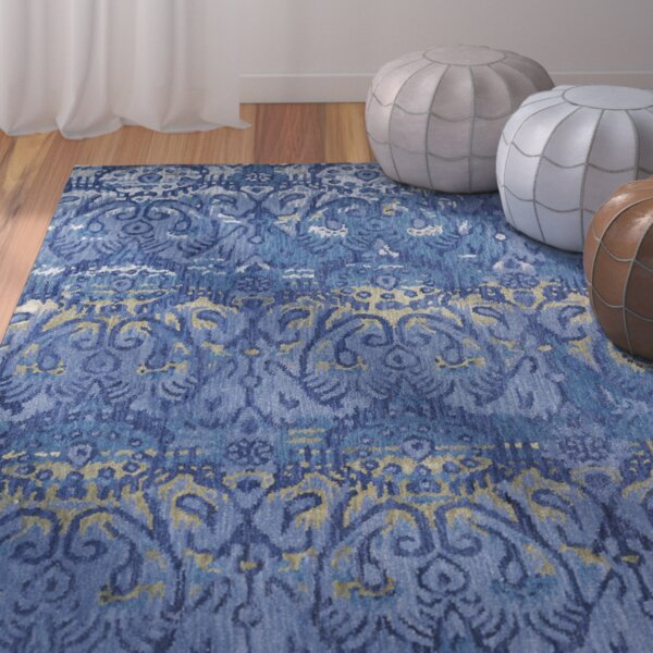 Lincolnton Hand-Tufted Blue Navy Area Rug by Bungalow Rose