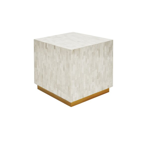 Cube Accent Stool by Worlds Away
