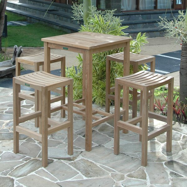 Avalon 5 Piece Teak Bar Height Dining Set by Anderson Teak