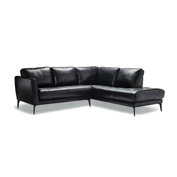 Cutlip Leather Modular Sectional by 17 Stories