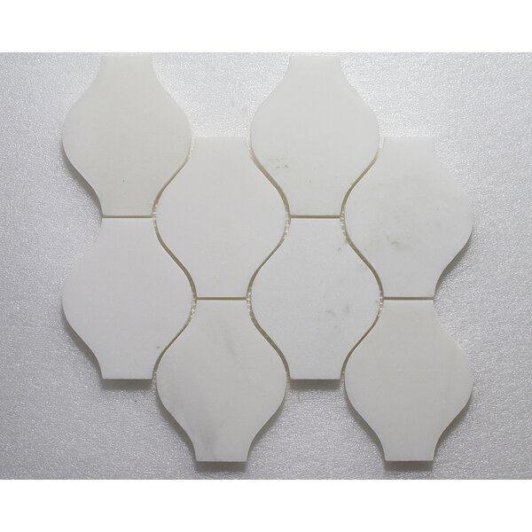 Lanterna Pure P. Wall 12X12 Natural Stone Mosaic Tile in White by Seven Seas