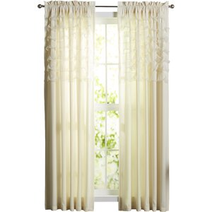 Lafleur Solid Sheer Rod Pocket Curtain Panels (Set of 2)