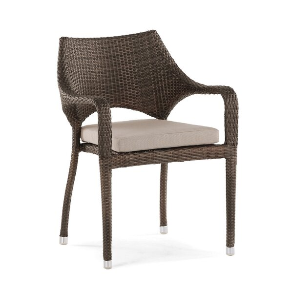Clare Stacking Patio Dining Chair with Cushion by Brayden Studio