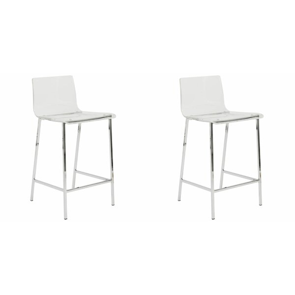 Rummond 26'' Counter Stool (Set of 2) by Everly Quinn Everly Quinn