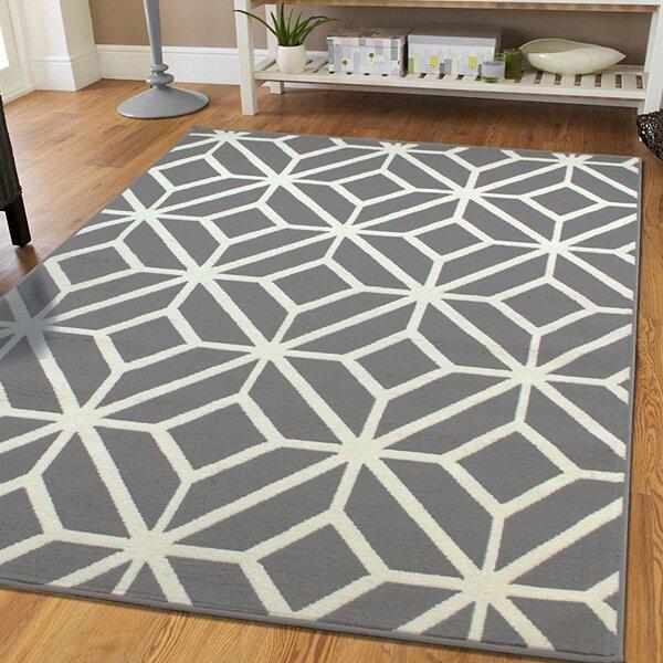 Pleione Trellis Gray Indoor/Outdoor Area Rug by Wrought Studio