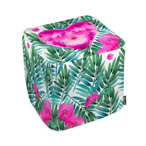 Oliver Gal Home Jungle Heart Pouf by Oliver Gal