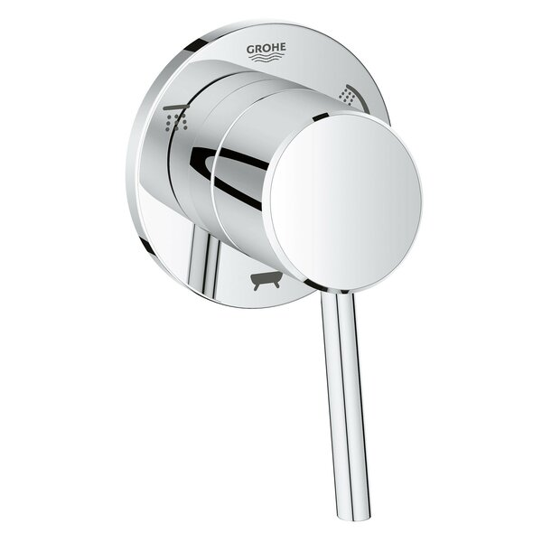 Concetto Single Handle 3-Way Diverter Shower Faucet Trim Only by Grohe