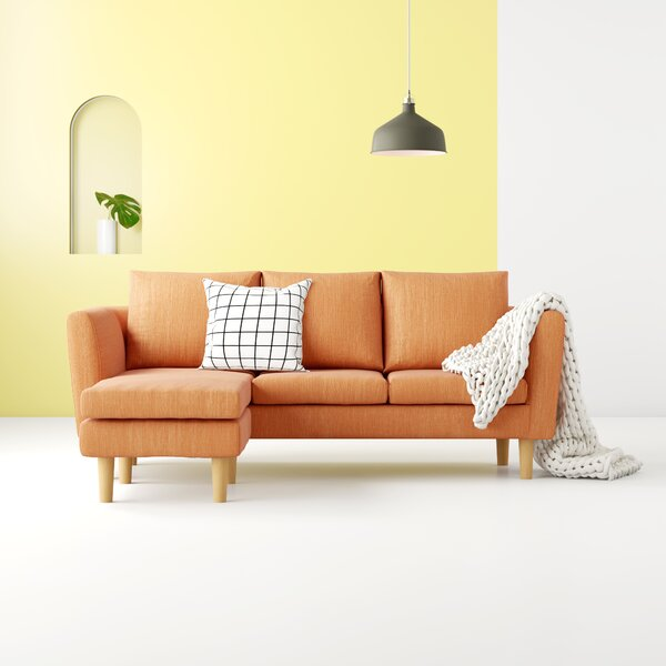Shop Up And Coming Designers Maisie Modern Compact Reversible Sectional by Hashtag Home by Hashtag Home