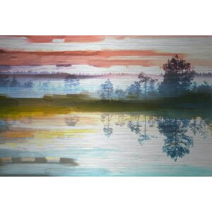 'Colorful Lake' by Parvez Taj Painting Print on Brushed Aluminum by Parvez Taj