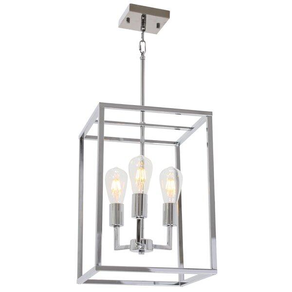 Mertztown 3 - Light Lantern Rectangle Chandelier by Latitude Run Latitude Run