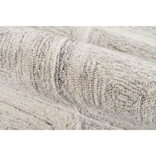 Harmond Hand-Tufted Wool Beige Area Rug by Ebern Designs