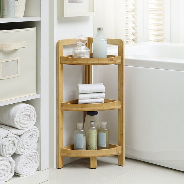 9.05 W x 24.4 H Bathroom Shelf by Rebrilliant
