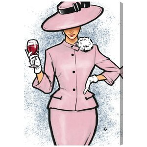 'Wine Snob' Painting Print on Wrapped Canvas by Oliver Gal