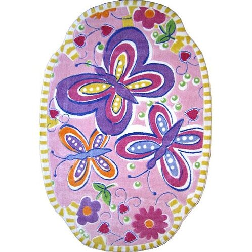 Supreme Glitterfly Purple Area Rug by Fun Rugs
