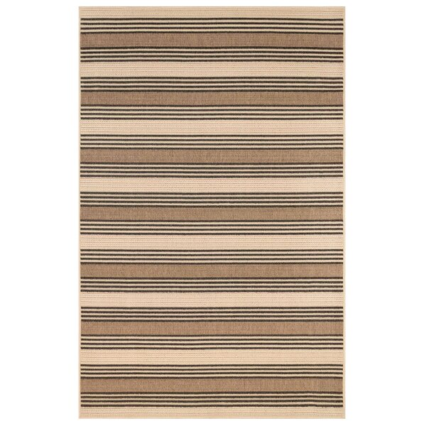 Sessions Stripe Brown/Ivory Indoor/Outdoor Area Rug by Gracie Oaks